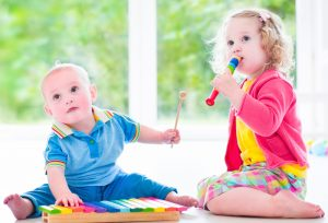 Home Sweet Home Child Care, baby, infant, toddler, two year-old, playing, music, instruments, enrichment